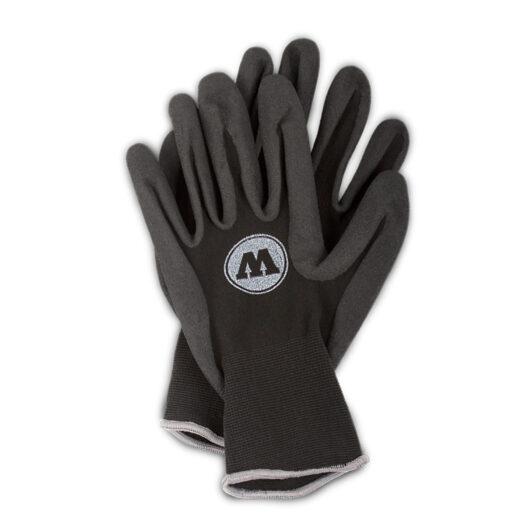 Molotow bescherming handschoenen vooraanzicht in het zwart/ donkergrijs. Ze geven optimale bescherming en zijn perfect voor het gebruik bij graffiti en streetart, omdat ze de handen beschermen tegen spray paint.