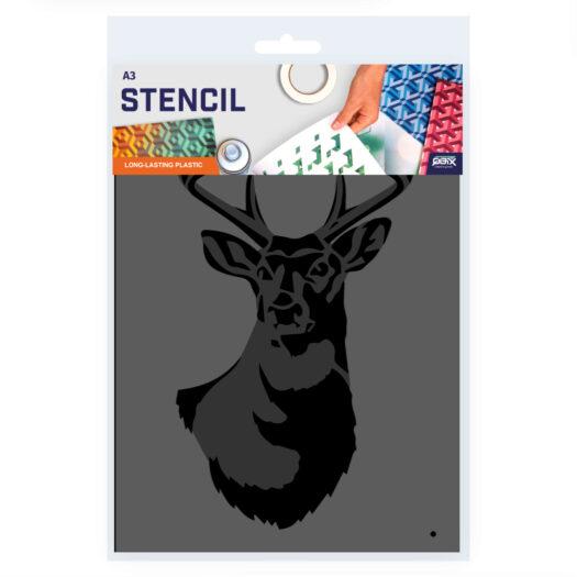 Herten stencil, dieren sjabloon