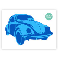 Volkswagen kever stencil, auto sjabloon