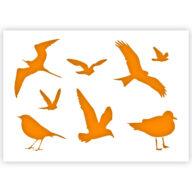 Vogel dieren stencil sjabloon