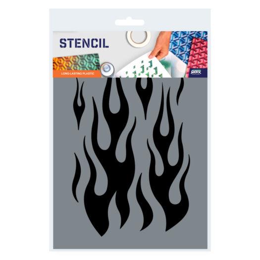 Flame Stencil Template