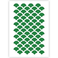 Schubben patroon sjabloon stencil