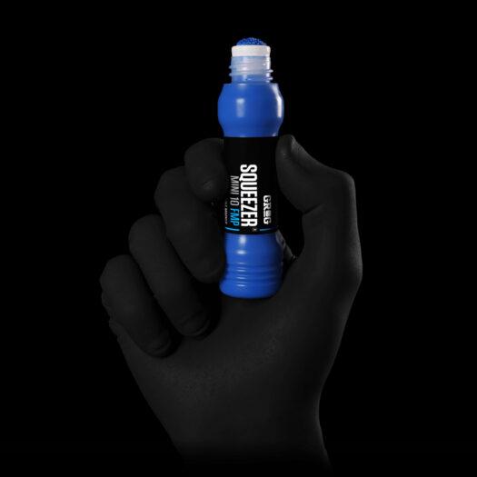 GROG squeezer paint marker 10 FMP blauw