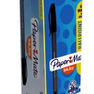 Papermate Inkjoy voordeelverpakking 100x zwarte pennen voor schrijven