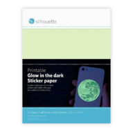 Silhouette printable glow in the dark sticker papier voor snijplotters en stencil art