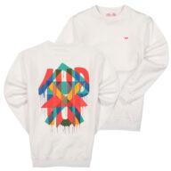 """1UP Sweater """"Maya Hayuk"""" - white trui 1UP crew"""