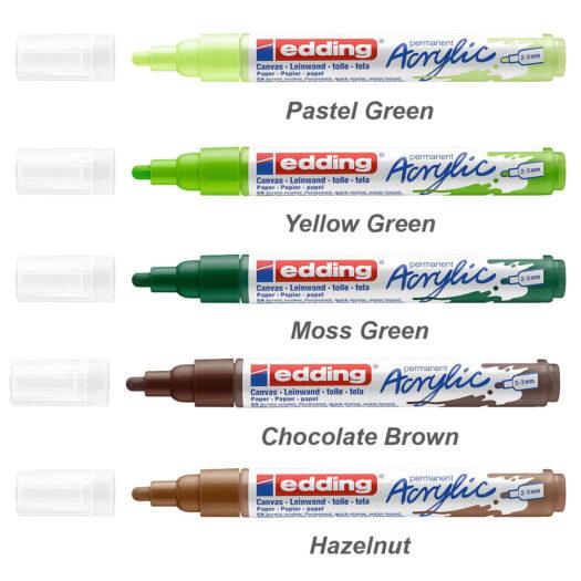 Edding 5100 acrylmarker medium verfstift acrylverf